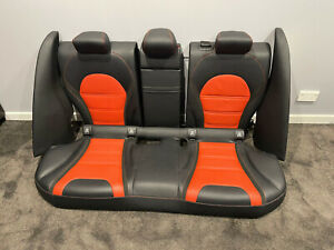 Mercedes Benz C63S AMG W205 Sedan Rear Leather Seats, complete rear seat set