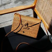 Women Envelope Bali Rattan Bag Crossbody Ata Grass Straw Holiday Woven Handbag