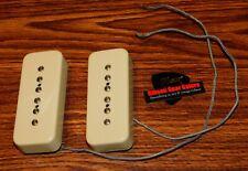 Gibson Les Paul Pickup Set Soapbar P-90 Light Creme Bridge Neck Guitar Parts SG