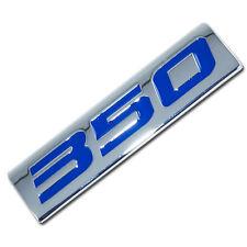 CHROME/BLUE METAL 350 ENGINE RACE MOTOR SWAP EMBLEM BADGE LM1 SMALL BLOCK CHEVY