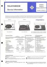 Telefunken Service Manual for S 500/S 600/CHASSIS S 500 HiFi
