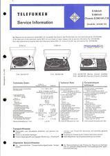 Telefunken Service Manual für S 500 / S 600 / Chassis S 500 hifi