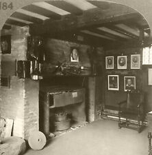 Keystone Stereoview Shakespeare's Living Room, England From Scarce 100 Card Set
