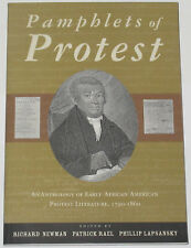 PAMPHLETS OF PROTEST Early African American Black History Slavery Politics Text