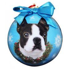 BOSTON TERRIER ~ CHRISTMAS BALL ORNAMENT  #76