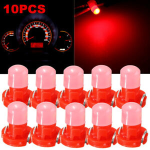 10x Red T3 Neo Wedge LED Bulb Instrument Dash Dashboard Gauge Base Lamp Light