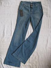 7 SEVEN for all MANkiND Damen Blue Jeans Stretch W25/L34 Gr.34 regular fit flare