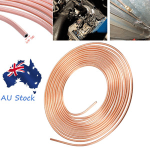 "50 Feet Steel Zinc Copper Nickel Brake Line Coil Fuel Oil Trans Tubing 1/4"" O.D."