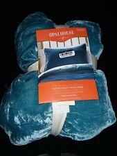 New Tufted Teal Velvet Stitch Pillow Sham Standard Size Opalhouse