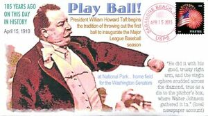 COVERSCAPE computer designed 105th anniversary President Taft's 1st Pitch cover