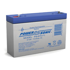 Power-Sonic 6 Volt 7 Ah - Sealed Lead Acid Battery
