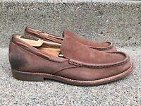 Ugg Australia 1002442 Men's Leather Loafers Via Pointe Chestnut Slip On Shoes 10