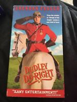 Dudley Do Right VHS Tape. Cult Classic 90s Comedy Brendan Fraser Vhs Movie.