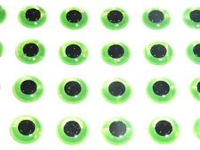 1000 X  3D HOLOGRAPHIC 7MM GREEN EYES FLYTYING,LURE,FLIES,PIKE,BASS,ARTS,TROUT