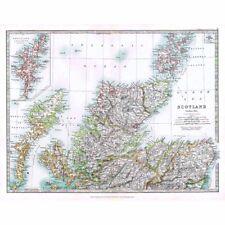 Antique Map 1914-ECOSSE (Nord) par W & AK Johnston