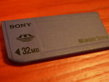 SONY Memory STICK M carte memoire 32 MB mega APN Vintage DSC- + 32MB Media CARD