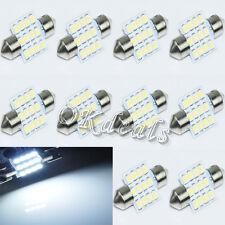 10 PCS  31mm 12 LED SMD Auto Lampe Nebelscheinwerfer  Tagfahrleuchte  Neu
