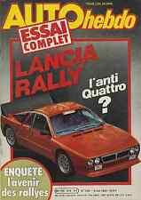 AUTO HEBDO n°316 du 6 Mai 1982 LANCIA RALLY
