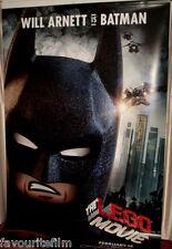 Cinema Banner: LEGO MOVIE, THE 2014 (Batman) Will Arnett Elizabeth Banks