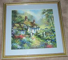a Framed Art - Cottage Scene
