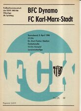 OL 85/86 FC Karl-Marx-Stadt - BFC Dynamo Berlin