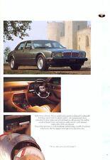 Jaguar Daimler including XJS 1991 UK market sales brochure