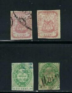 ESTADOS UNIDOS DE COLOMBIA. SC35-35a 40-40a small figures     1865