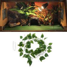 Artificial V 00004000 ine Reptile Terrarium Box Habitat Landscaping Green Fake Plant Leave