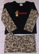 """Girls 2T Outfit """"Purrrfect"""" Cat Kitten Animal Print Fisher Price2 Piece"""