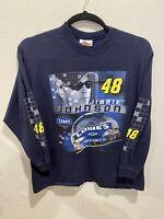 Jimmie Johnson #48 Long Sleeve Shirt Large Winners Circle NASCAR Blue Lowe's