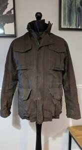 Timberland Men's Urban Military Waterproof Jacket Overcoat - Brown - UK Medium