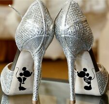 Boda hago Minnie Mickey Mouse Disney Set Boda Zapatos Novia Pegatinas 1 Clase