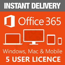 Microsoft Office 365/2016 5 Users Windows/Mac✅Download by Email✅Instant Delivery