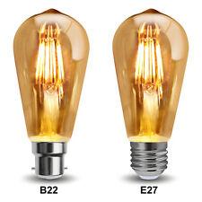 Vintage Led Regulable 6W = 60W jaula de ardilla Edison Estilo Bombilla B22 o E27
