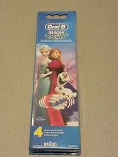 Braun Oral B Stages Brush Heads Frozen  Pack of 4 (New and Sealed)