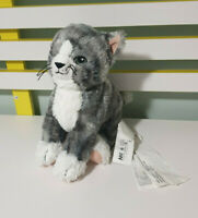 IKEA CAT GREY SOFT TOY PLUSH TOY 27CM LONG SO SOFT WHITE TIP ON TAIL TAGS