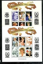 ZAMBIA #706-707 1997 PRINCESS DIANA MINT VF NH O.G SHEET 6