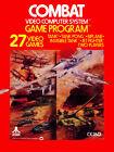 "Video Game Cover Poster - Atari 2600 - Combat (1978) Canvas Art 18"" x 24"""