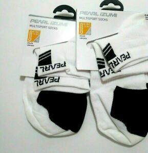 Pearl iZUMi Women's Elite Low Socks White Small Biking Cycling 2 Pair