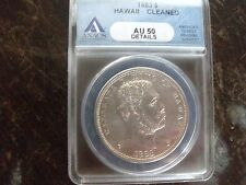 1883 Hawaian  Dollar ANACS Genuine A.U. Details Cleaned