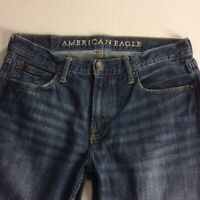 100% Cotton AMERICAN EAGLE Men's Jeans 32 X 34 (*32x32) ORIGINAL STRAIGHT