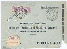 "R.S.I. - da ""CORNATE D'ADDA"" a  Vimercate - RARA TASSATA DI EMERGENZA - 1945"