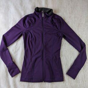 Under Armour Women's Track Jacket Purple Full Zip Thumbhole All Seasons Sz XS