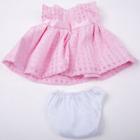 "Handmade Pink Bowknot Summer Dress Doll Clothes fits 18"" Doll Nice"