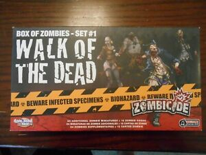Zombicide 1.0 Game Parts: Miniatures and Dice