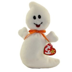 TY Beanie Baby - SPOOKY the Ghost (4th Gen hang tag) (8 inch) -MWMTs Stuffed Toy