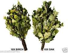 Dry Sauna Whisks Set 10 Birch + 10 Oak (Broom, Venik, Whisk)