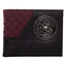 Bioworld Game Of Thrones Maison Targaryen Badge Dragon Bi-Pliable Portefeuille