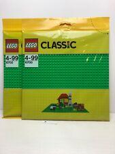2 NEW PACKS 10700 LEGO Green Baseplate Classic Age 4-99
