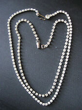 2 SPARKLING ICE RHINESTONES PRONG SET IN SILVER TONE NECKLACES